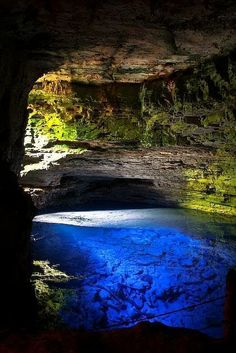 "Poço Encantado, the ""Enchanted Well, located in Chapada Diamantina National Park in Bahia state, Brazil"