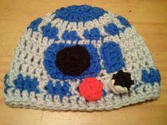 Star Wars Inspired R2D2 Hat - Baby Crochet Newborn Beanie Boy Girl Costume Halloween Thanksgiving Photo Prop Christmas Gift Winter Outfit. $19.99, via Etsy.