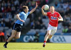 Cork\'s Damien Cahalane and Jason Whelan of Dublin. Semi Final, Dublin, Division, Finals, Cork, Chill, Soccer, Football, Sports