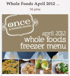 Great blog about once a month cooking with whole foods.