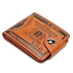 Vendita calda Moda Uomo raccoglitore di disegno del bicchierino di Marca portafogli da uomo mini Cuoio DELL'UNITÀ di elaborazione prezzo in dollari borsa titolari di carta di credito 2 colori