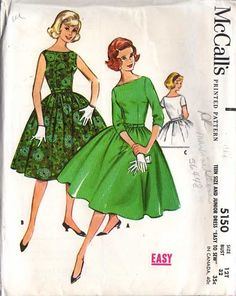 1959 prom dress pattern- Perfect for the 80's dance in Spring - Back in Style
