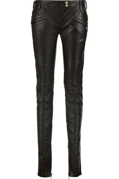 BALMAIN Moto-Style Faux Leather