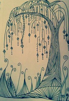 Zentangle, doodles, trees