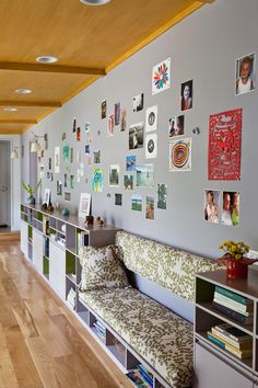 Magnetic wall.  BEST SITE EVER.  She is an incredible decorate and teaches you along the way. -AMT