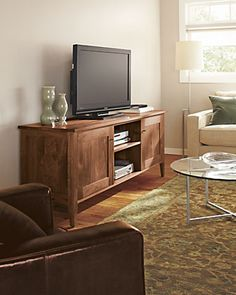 Hudson Media Cabinet Living Room Board Rug Console