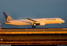 United 863 about to touchdown on runway 34L as the fog rolls in across on the airport on sun rise.. N45956. Boeing 787-9 Dreamliner. JetPhotos.com is the biggest database of aviation photographs with over 3 million screened photos online!