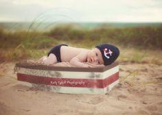 Anchors Away Boy Hat and Diaper Cover Set
