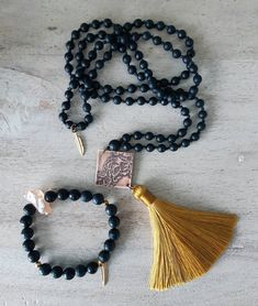 Some great malas have been claimed today and there are still a few more great pieces up for grabs --- and this one might just be my… Just Be, Be Still, Tassel Necklace, Collection, Instagram, Jewelry, Fashion, Suitcase, Moda