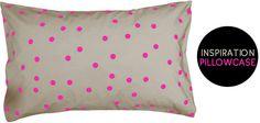 Polka Dot pillowcase DIY