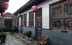 Entrance of one of the traditional houses of Pingyao...