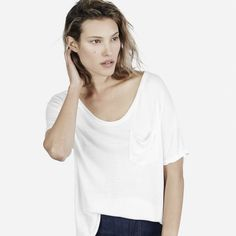 The Ryan Pocket Tee - White - Everlane