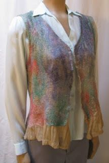 River Oaks Farm & Studio: Fiber Art  nuno felted vest
