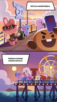 Bts Chibi, Cute Anime Wallpaper, Bts Wallpaper, Dream Illustration, Bts Memes Hilarious, Bts Face, Line Friends, Bts Drawings, Bts Lockscreen