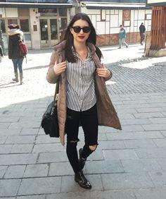 Sunny winter  Zara shirt,  Topshop jeans Pull&bear boots Koton jacket