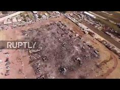 3b3276bb7233 Mexico  Drone captures aftermath of fireworks market explosion in Mexico