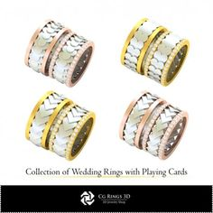 CAD Collection of Wedding Rings with Playing Cards Cad Services, 3d Cad Models, Jewelry Collection, Playing Cards, Buy And Sell, Wedding Rings, Collections, Engagement Rings, Stuff To Buy