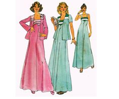 70s Boho Jacket and Maxi Dress Pattern by allthepreciousthings