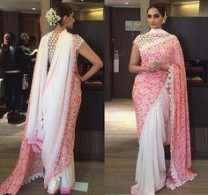 How to wear Sonam Kapoor Saree in Double Pallu Saree Style
