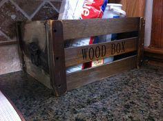 Wood box I antiqued!