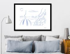 Discover «Positano lineart», Exclusive Edition Fine Art Print by Max Somma - From 25€ - Curioos