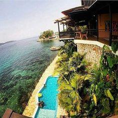 Buen dia, y que rico sería despertar aqui con esta vista, Posada Mochima Lodge…