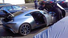 Fancy TV: Daniel Craig takes top secret Aston Martin DB1 out...