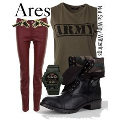 Ares military army outfit. Percy Jackson series