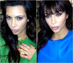 Celebrity Gossip: Kim Karadashian Goes Green & Blue Eyes. Read more in http://uniqsoblog.blogspot.com/2013/09/celebrity-gossip-kim-karadashian-goes.html  #Celebrity #Gossip