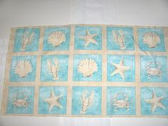 Easy Fabric Panel Baby Quilt Kit Sea Babies Whale Fish