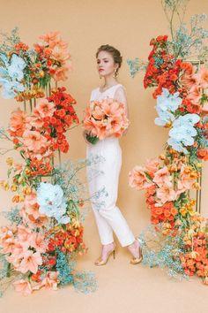 Orange Wedding, Floral Wedding, Wedding Flowers, Ceremony Arch, Wedding Ceremony Decorations, Flower Structure, Wedding Arbors, Flower Wall Backdrop, Collor