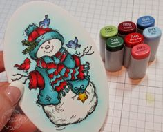Serendipity Stamps: Sparkle and Shine Snowman