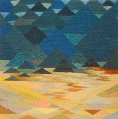 Rebecca Mezoff, Tapestry Artist: Tapestry Five Weaving Textiles, Tapestry Weaving, Tapestry Crochet, Textile Fiber Art, Fibre Art, Loom Yarn, Contemporary Tapestries, Tapestry Design, Weaving Projects