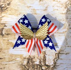 Excited to share the latest addition to my #etsy shop: Flag Cheer Bow/Patriotic Cheer Bow/Independence Day Cheer Bow/Cheer Bows
