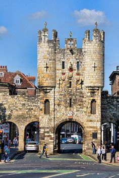 I remember walking under those arches with Lucy...    Micklegate Bar, York, UK by Jeffdalt, via Flickr