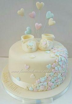 Baby shower cake – # baby cake - New Sites Torta Baby Shower, Tortas Baby Shower Niña, Baby Shower Cakes Neutral, Baby Shower Pasta, Unisex Baby Shower Cakes, Baby Cakes, Baby Birthday Cakes, Birthday Parties, Girl Shower