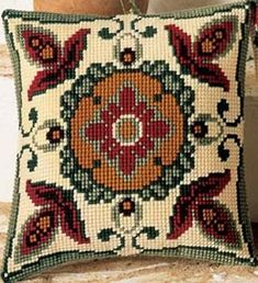 It provides free image upload and hosting integration for the f … - Stickerei Ideen Bargello Needlepoint, Broderie Bargello, Diy Broderie, Needlepoint Pillows, Pillow Embroidery, Towel Embroidery, Embroidery Stitches, Embroidery Patterns, Cross Stitch Borders