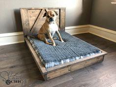 DIY Farmhouse Dog Bed - 2 tool project #dog