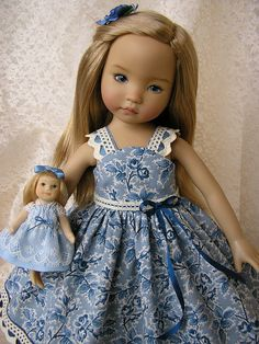 Diana Effner doll with a dress by Tomi Jane - so sweet!