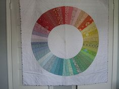 Color Wheel Quilt.  This quilt was the reason I learned to quilt.
