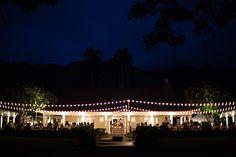Beautiful night lights for outdoor wedding