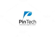 P Letter Logo - Pin Tech by Arslan on P Logo Design, Modern Logo Design, Logo Design Template, Graphic Design, Typo Logo, Letter Form, Initials Logo, Abstract Logo, Pin Logo