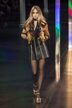 Cara Delevingne – Saint Laurent Fashion Show 2015 -08