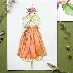 내년엔 철릭한복만들기 도전!  #수채화 #철릭 #퓨전한복 #songle #calligraphy #송글작가 #hanbok ##illust #watercolor #korea #traditional #costume #한복디자인 #hanbokdesign