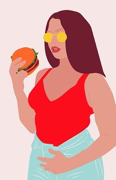 burger lanebryant illustration  - byisabel | ello