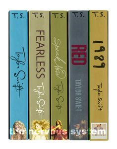 Taylor Swift albums as a series of books by thenervoussystem
