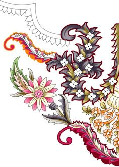 Flower Pattern Drawing, Pattern Art, Flower Patterns, Flower Designs, Border Pattern, Paisley Wallpaper, Paisley Art, Paisley Flower, Folk Art Flowers