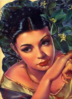 I just acquired this print - Mexican Calendar Girls the golden age of calendar art: wonderful history and pictures book by the author Angela Villalba Mexican Artwork, Mexican Folk Art, Mexican Style, Mexican Paintings, Rolf Armstrong, Jorge Gonzalez, Latino Art, Mexican Heritage, Mexico Art