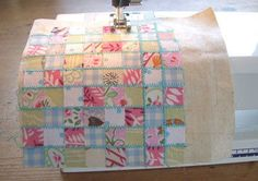 how to: cheater's patchwork .. so much easier when making a miniature piece .. definitely going to do this ..