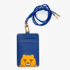 Kakao Friends Leather Carder Holder Neck Strap ID Credit Card Case Wallet Ryan #KakaoFriends #IDWallet